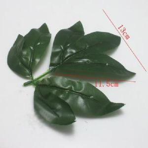 Peony leaf, Plastic, Dark green, 13.5cm x 11.5cm [approximate], 5 pieces, [ST789]
